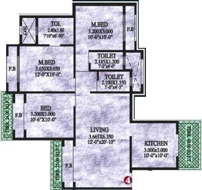 Sai Yashvasin (3BHK+3T (1,458 sq ft) Apartment 1458 sq ft)