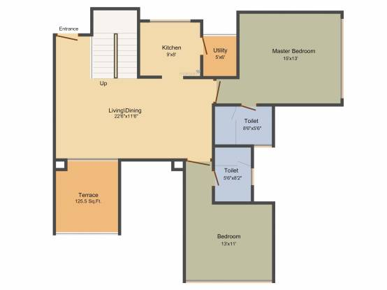 Marvel Fria (2BHK+2T (1,962 sq ft) Apartment 1962 sq ft)