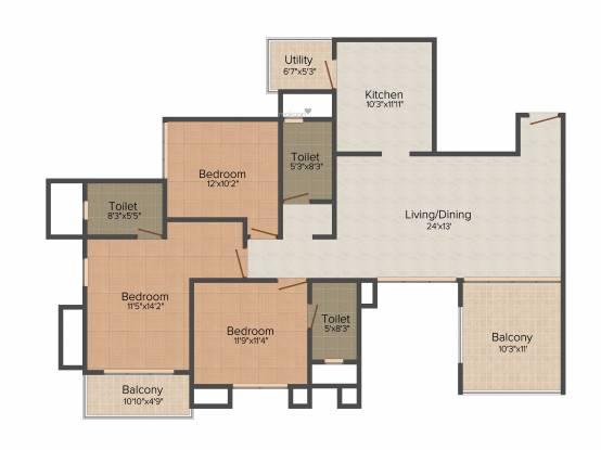ABIL Imperial (3BHK+3T (1,770 sq ft) Apartment 1770 sq ft)