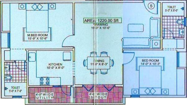 Citadil Ashwini Homes (2BHK+2T (1,220 sq ft) Apartment 1220 sq ft)