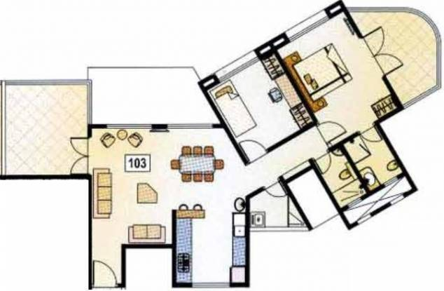 Kishor Platinum Towers (2BHK+2T (1,096 sq ft) Apartment 1096 sq ft)