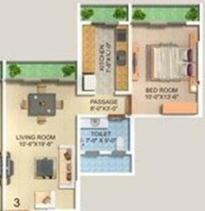 AP Panchavati B (1BHK+1T (670 sq ft) Apartment 670 sq ft)