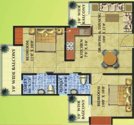 Radicon Vedantam (2BHK+2T (896 sq ft) Apartment 896 sq ft)