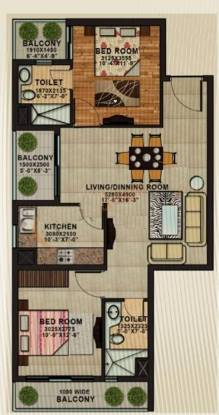APS Shilpayan K7 (2BHK+2T (1,190 sq ft) Apartment 1190 sq ft)