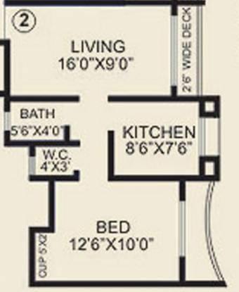 Agarwal Peace Heaven (1BHK+1T (675 sq ft) Apartment 675 sq ft)