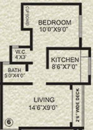 Agarwal Krish Garden (1BHK+1T (535 sq ft) Apartment 535 sq ft)