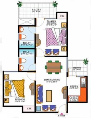 High End Paradise (2BHK+2T (920 sq ft) Apartment 920 sq ft)