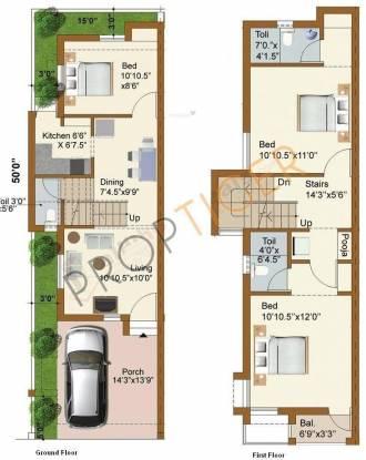 Malles AV Gardens (3BHK+2T (1,441 sq ft)   Pooja Room Villa 1441 sq ft)