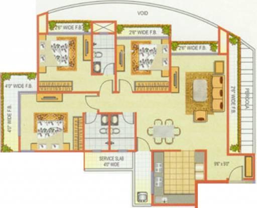 Sanjona Abhilash (3BHK+3T (979 sq ft) Apartment 979 sq ft)