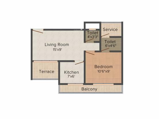 GHP Casa (1BHK+1T (595 sq ft) Apartment 595 sq ft)