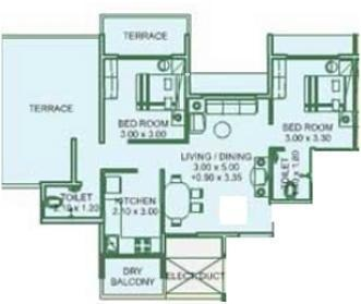 EV Emerald Heights (2BHK+2T (1,205 sq ft) Apartment 1205 sq ft)