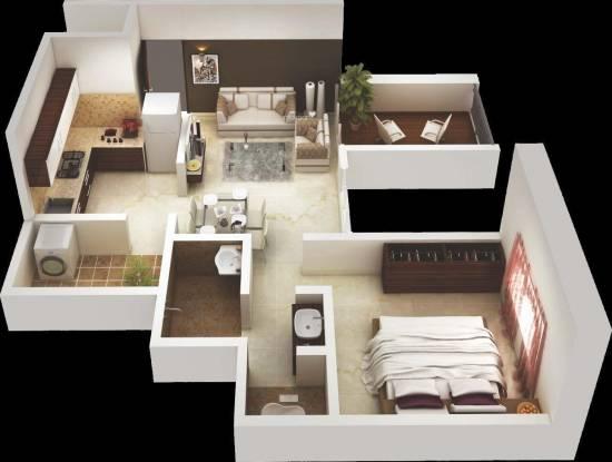 Kanchan Comfortz (1BHK+1T (623 sq ft) Apartment 623 sq ft)