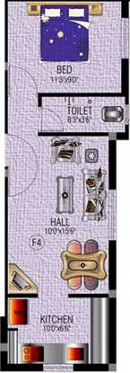 SM Royal Homes (1BHK+1T (518 sq ft) Apartment 518 sq ft)