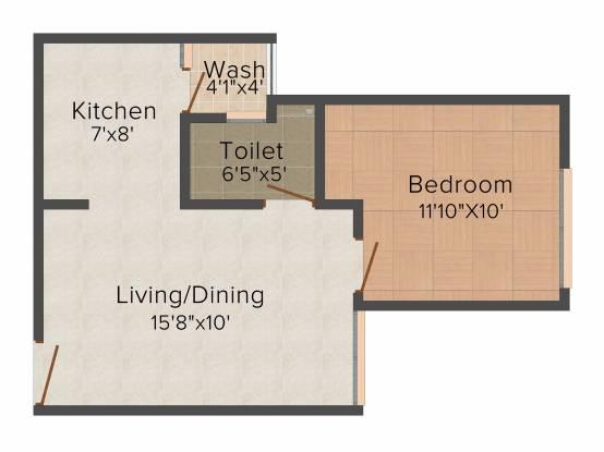 Satyam Sarjan (1BHK+1T (639 sq ft) Apartment 639 sq ft)