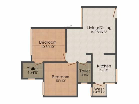 Satyam Sarjan (2BHK+2T (918 sq ft) Apartment 918 sq ft)