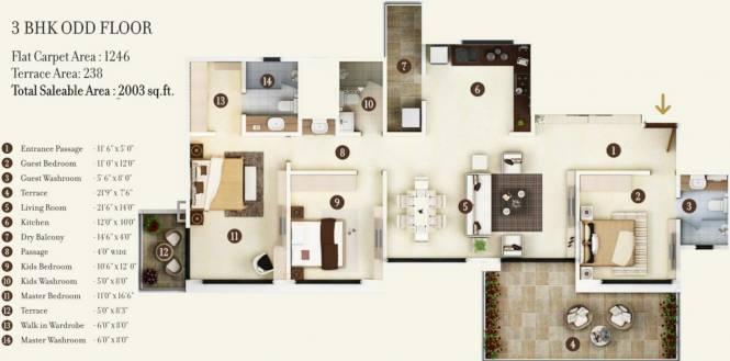 Kolte Patil 24K Jazz Glitterati 2 (3BHK+3T (2,003 sq ft) Apartment 2003 sq ft)