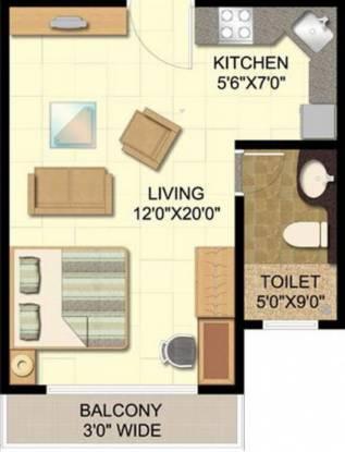 Disha Bay Vista (1BHK+1T (488 sq ft) Apartment 488 sq ft)