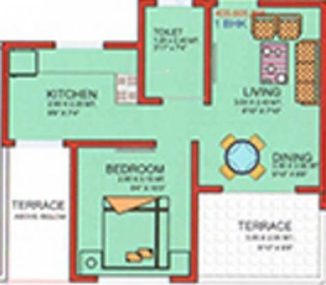 Swamee Keyzwood (1BHK+1T (545 sq ft) Apartment 545 sq ft)