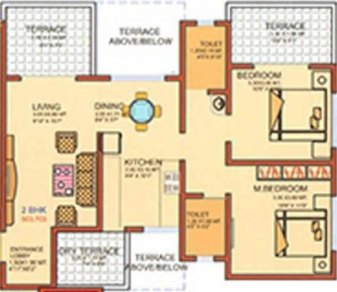 Swamee Keyzwood (2BHK+2T (919 sq ft) Apartment 919 sq ft)