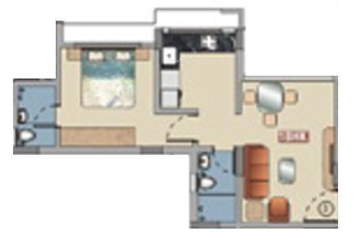 Baria Pride (1BHK+1T (475 sq ft) Apartment 475 sq ft)