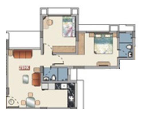 Baria Pride (2BHK+2T (850 sq ft) Apartment 850 sq ft)