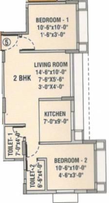 Baria Yashwant Pride (2BHK+2T (1,090 sq ft) Apartment 1090 sq ft)