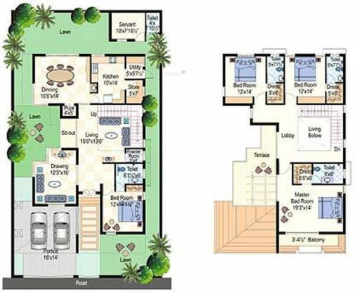 Lumbini SLN Springs (4BHK+6T (3,199 sq ft) + Servant Room Villa 3199 sq ft)