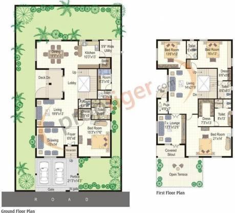 Radha Dews Ville (4BHK+4T (4,600 sq ft)   Servant Room Villa 4600 sq ft)