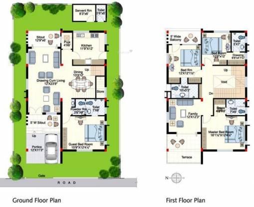 Indu Fortune Fields Villas (4BHK+4T (2,940 sq ft)   Servant Room Villa 2940 sq ft)