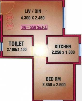 Dudhe Sai Saukhya (1BHK+1T (550 sq ft) Apartment 550 sq ft)