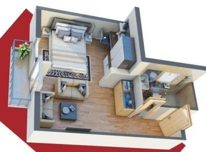 DLF My Pad (1BHK+1T (620 sq ft) Apartment 620 sq ft)