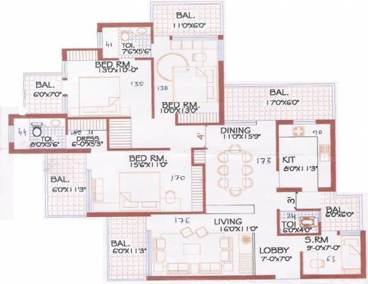CGHS Skyland Apartments (3BHK+3T (2,150 sq ft)   Servant Room Apartment 2150 sq ft)