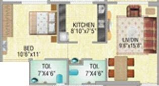 Kanungo Garden City (1BHK+1T (675 sq ft) Apartment 675 sq ft)