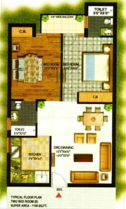 Kalka Royal Residency (2BHK+2T (1,100 sq ft) Apartment 1100 sq ft)