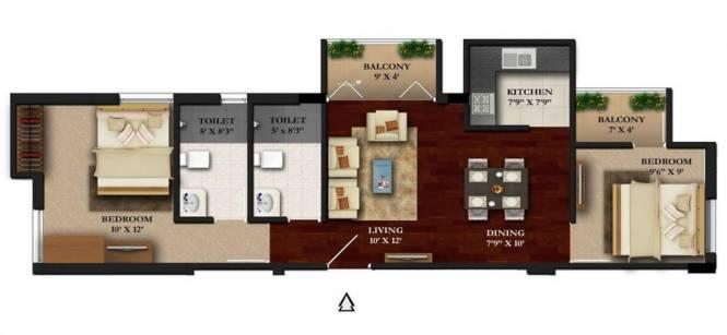Sree Raja Rajeshwari Developers Vista Heights (2BHK+2T (910 sq ft) Apartment 910 sq ft)