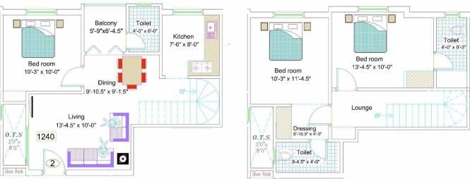 NewCrest Sai Enclave (3BHK+3T (1,240 sq ft) Apartment 1240 sq ft)