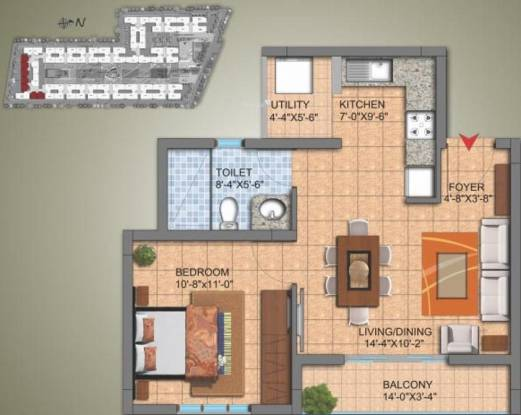 SJR Hamilton Homes (1BHK+1T (640 sq ft) Apartment 640 sq ft)