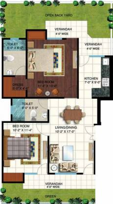 Piyush Rosette (2BHK+2T (960 sq ft) Apartment 960 sq ft)