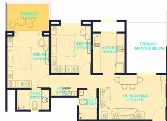 Kukreja Heritage (2BHK+2T (1,000 sq ft) Apartment 1000 sq ft)