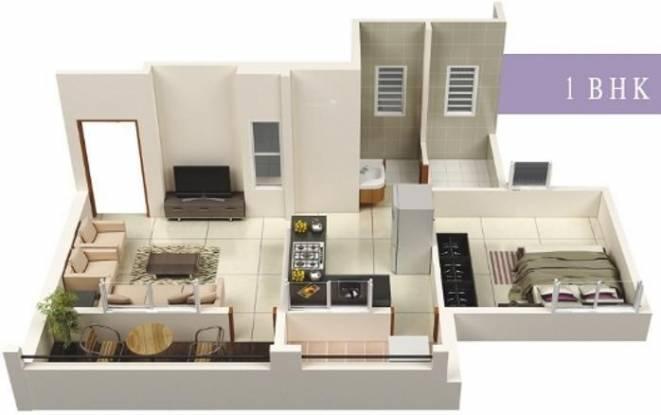 Vastuyog Wisteria (1BHK+1T (603 sq ft) Apartment 603 sq ft)