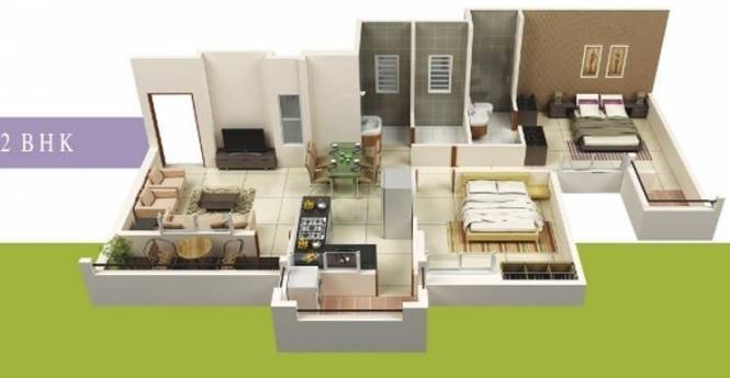 Vastuyog Wisteria (2BHK+2T (958 sq ft) Apartment 958 sq ft)