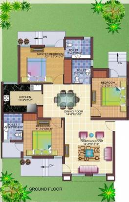 Cosmos Tulsi Residency (3BHK+3T (1,400 sq ft) Apartment 1400 sq ft)