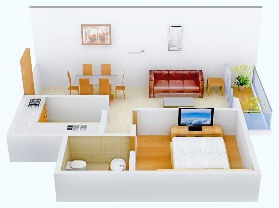 Artha Citrine (1BHK+1T (495 sq ft) Apartment 495 sq ft)