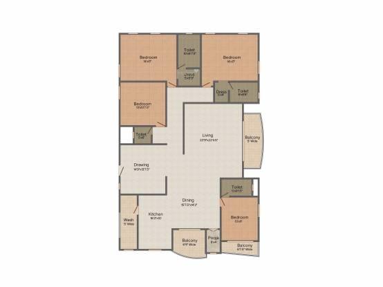 Vaishnavi Sriman (4BHK+4T (3,474 sq ft) Apartment 3474 sq ft)