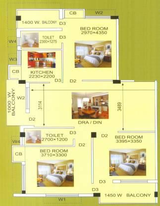 Regent Krishna Kunj (3BHK+2T (1,376 sq ft) Apartment 1376 sq ft)