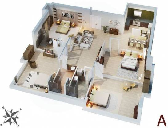 Multicon Solitaire (4BHK+4T (2,220 sq ft) Apartment 2220 sq ft)