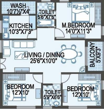 ACE Atlantis (3BHK+2T (1,400 sq ft) Apartment 1400 sq ft)