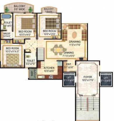 Niho Saffron Scottish Garden (4BHK+4T (2,170 sq ft) Apartment 2170 sq ft)