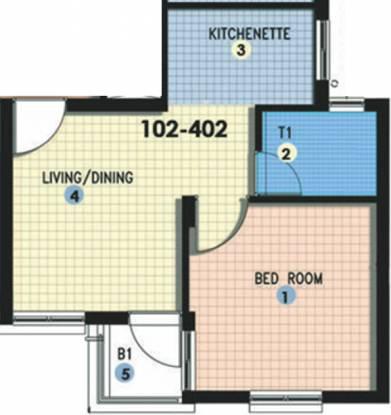 Shapoorji Pallonji Shukho Brishti (1BHK+1T (500 sq ft) Apartment 500 sq ft)