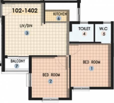 Shapoorji Pallonji Shukho Brishti (2BHK+2T (650 sq ft) Apartment 650 sq ft)